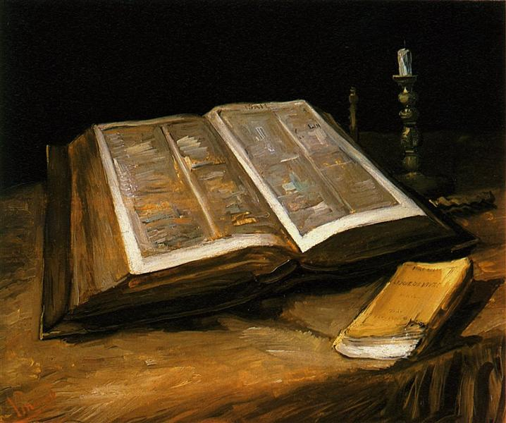 Still Life with Bible, c.1885 - Vincent van Gogh