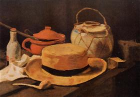 Todavía vida con el sombrero amarillo, Vincent van Gogh