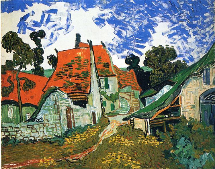 Street in Auvers-sur-Oise - van Gogh Vincent
