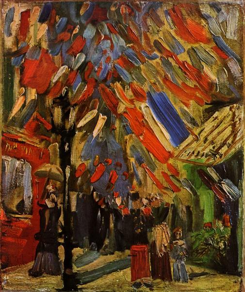The Fourteenth of July Celebration in Paris, 1886 - Vincent van Gogh