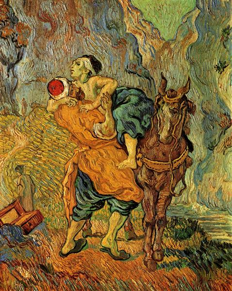 The Good Samaritan, after Delacroix, 1890 - Vincent van Gogh