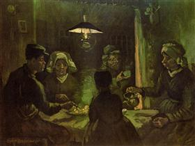 Los comedores de patatas (preliminar boceto al óleo), Vincent van Gogh