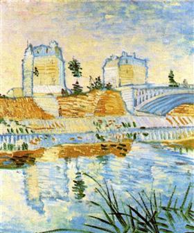 El Sena con el Pont de Clichy, Vincent van Gogh