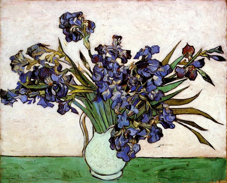 Vase with Irises, 1890 - Vincent van Gogh