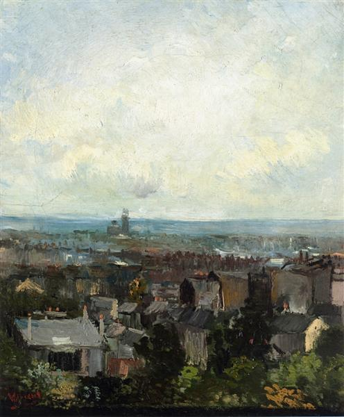 View of Paris from near Montmartre, 1886 - Vincent van Gogh
