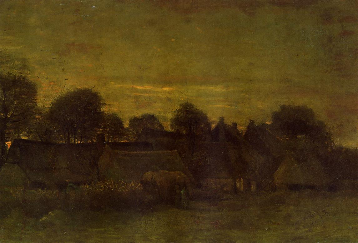 Village at sunset 1884 vincent van gogh for Van gogh paintings locations