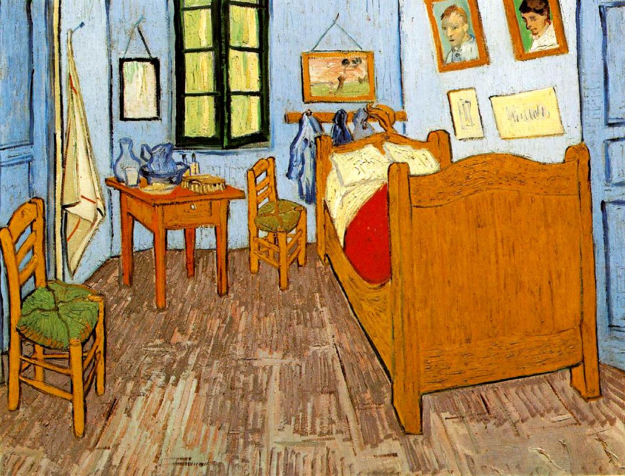 Vincent\'s Bedroom in Arles, 1889 - Vincent van Gogh - WikiArt.org