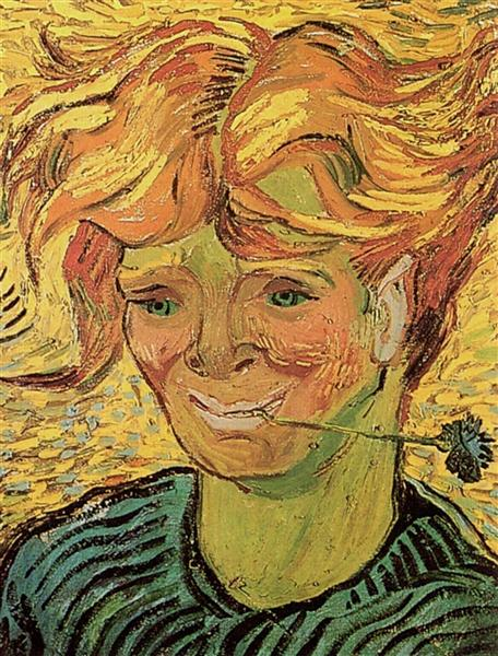 Young Man with Cornflower, 1890 - Vincent van Gogh