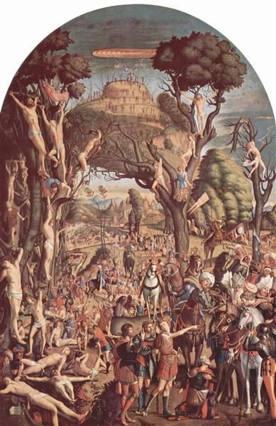 The Crucifixion and the Glorification the Ten Thousand Martyrs on Mount Ararat, 1515 - Vittore Carpaccio