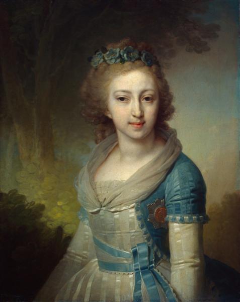Grand Duchess Elena Pavlovna of Russia, 1799 - Vladimir Borovikovsky