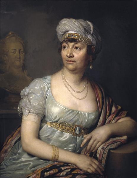 Portrait of Germaine de Stael, 1812 - Vladimir Borovikovsky