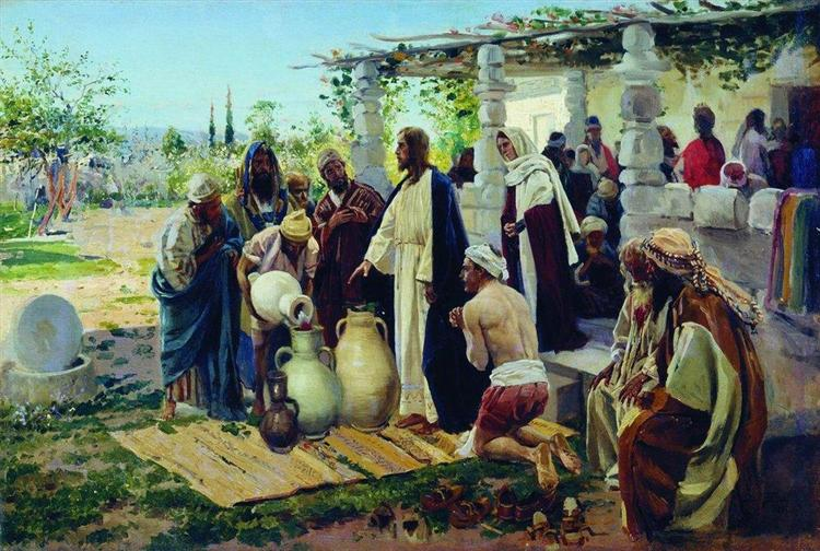 Miracle at Cana, 1887 - Vladimir Makovsky