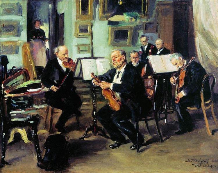 Musical Evening, 1906 - Володимир Маковський