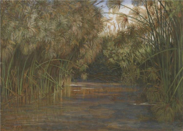 Syracuse, Anapo River, 1904 - Walter Crane