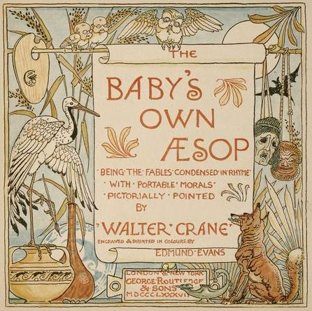 Title page of Baby's Own Aesop, 1887 - Walter Crane