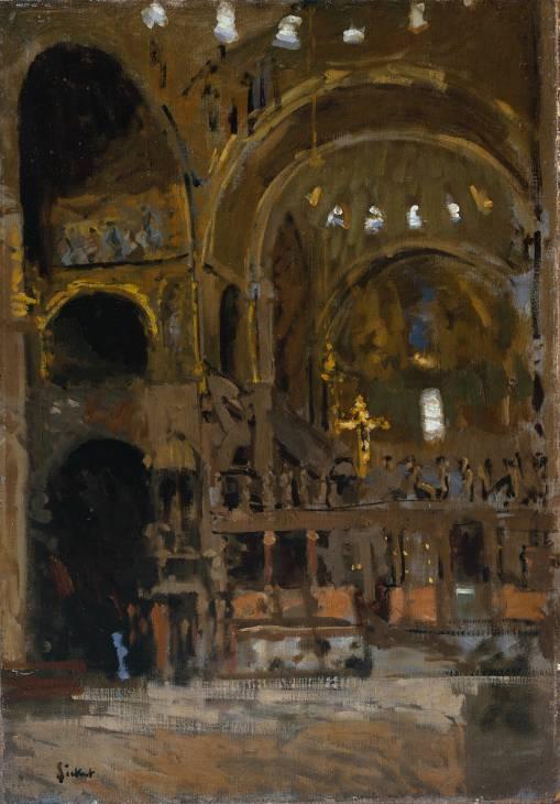 Interior of St Mark's, Venice, 1896