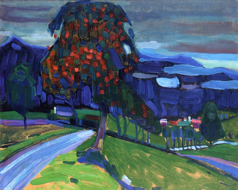 Autumn in Murnau, 1908 - Wassily Kandinsky - WikiArt.org