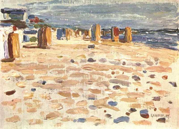 Beach Baskets In Holland, 1904 - Wassily Kandinsky