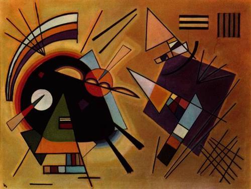 Black and Violet -  Wassily Kandinsky
