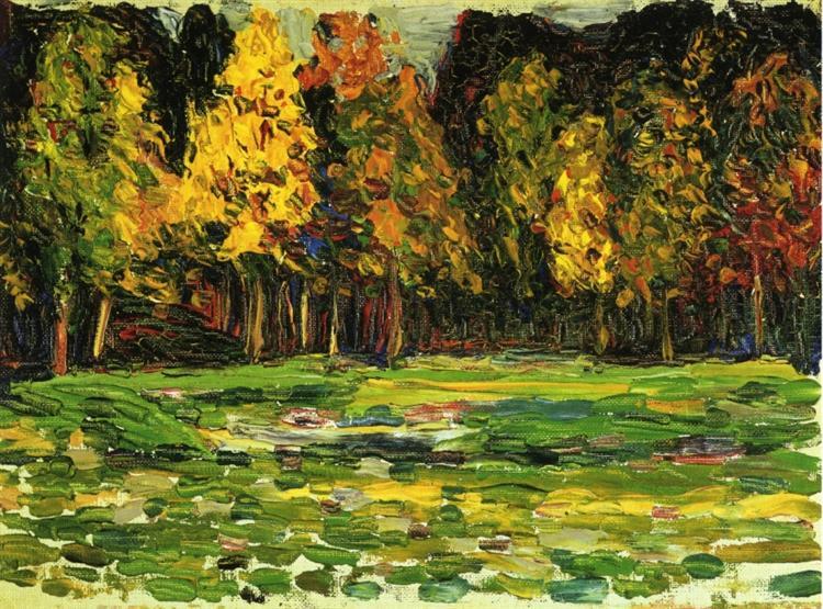 Forest edge, c.1903 - Wassily Kandinsky