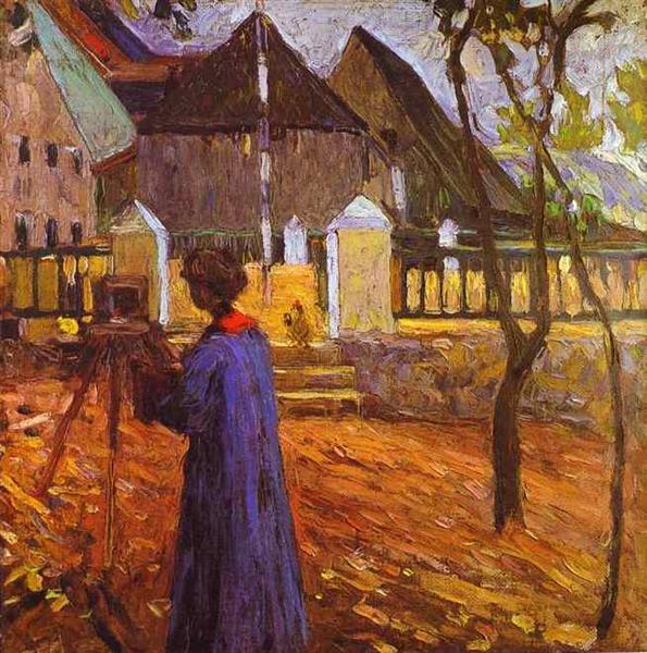 Gabriele Munter painting, 1903 - Wassily Kandinsky