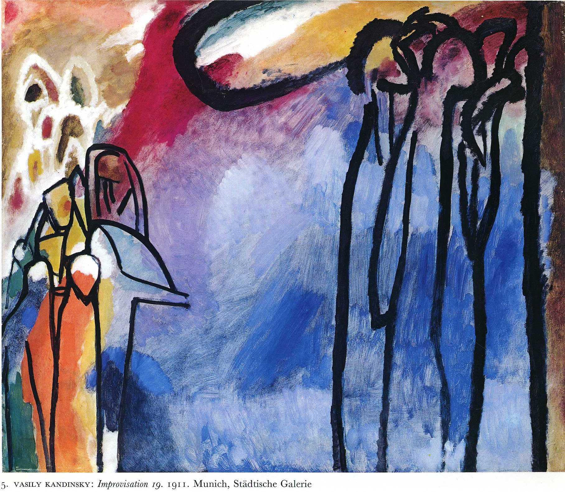 Toussaint II, 1911 de Wassily Kandinsky (1866-1944, Russia)