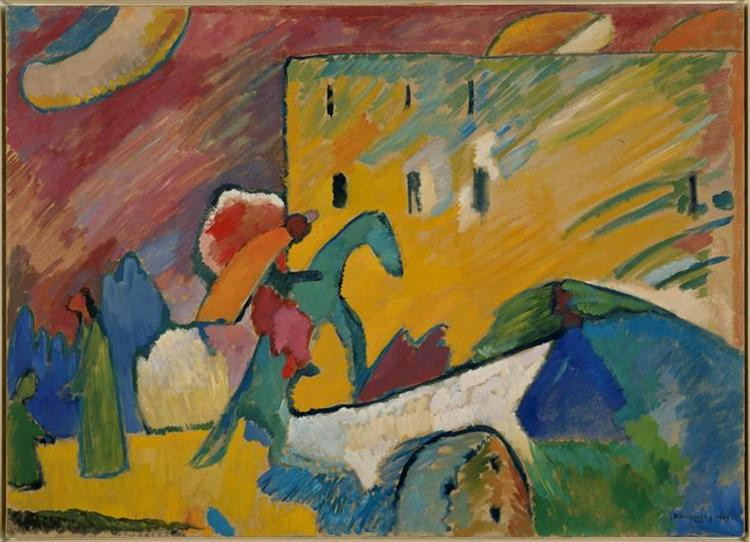 The Blue Rider, 1909 - Wassily Kandinsky