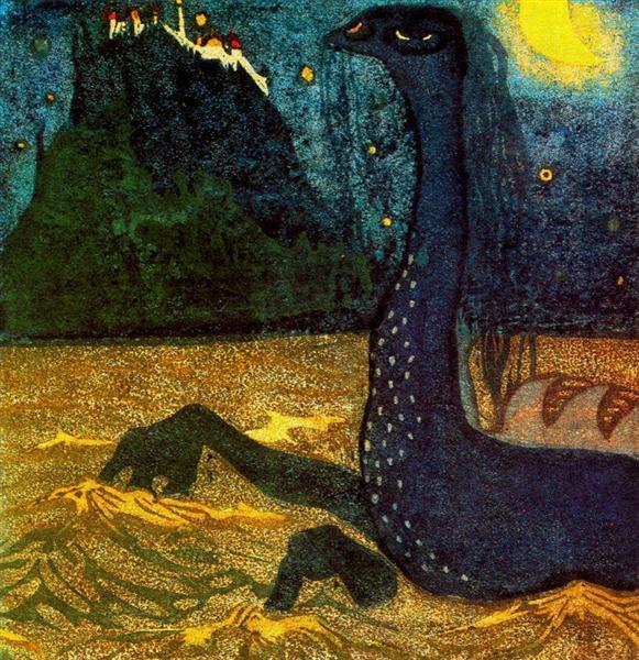 Moonlight night, 1907 - Wassily Kandinsky