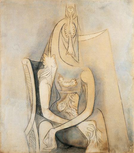 Mujer sentada, c.1955 - Wifredo Lam