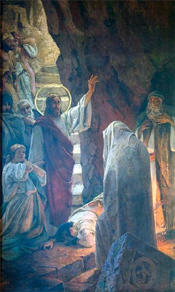 The Resurrection of Lazarus - Wilhelm Kotarbinski