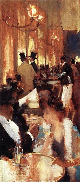 Cafe, 1888 - Willard Metcalf