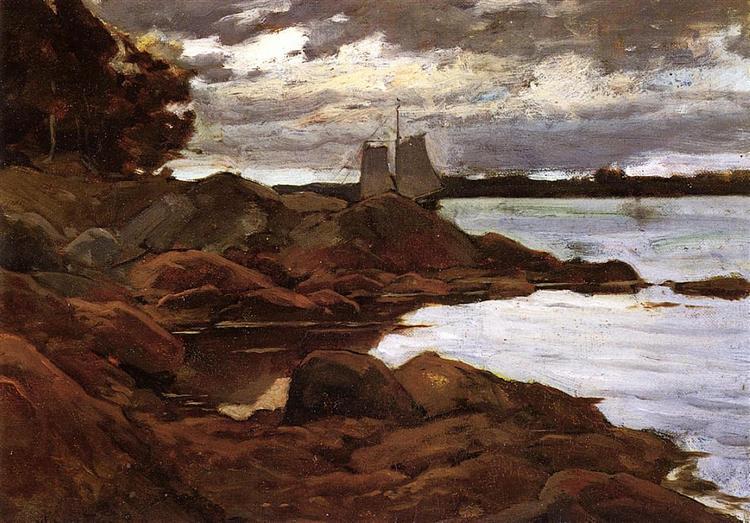 Close of Day on the Maine Shore, 1881 - Willard Metcalf