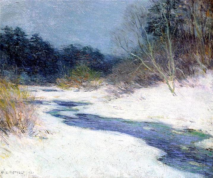 Thawing Brook, 1921 - Willard Metcalf