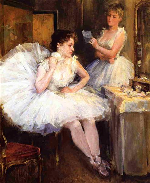 The Ballet Dancers aka The Dressing Room, 1885 - Willard Metcalf