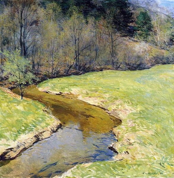 The Sunny Brook, Chester, Vermont, 1923 - Willard Metcalf