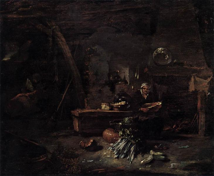 Interior of a Kitchen - Willem Kalf