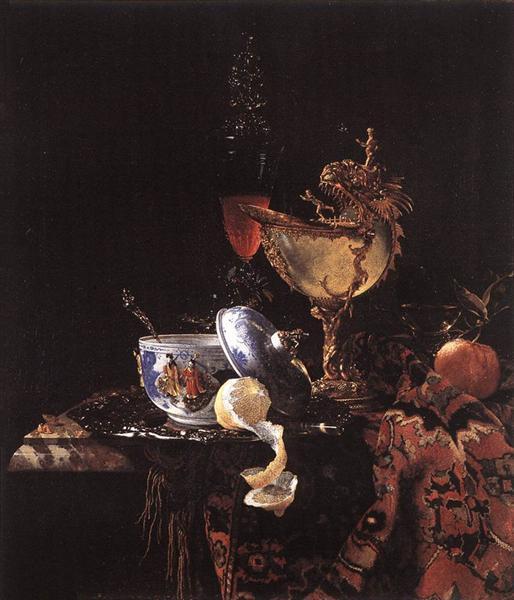 Still-Life with a Nautilus Cup - Willem Kalf