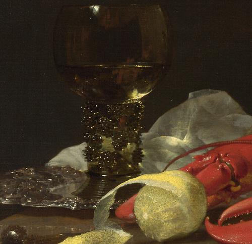 Still Life with Drinking-Horn (detail) - Willem Kalf