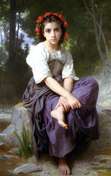 At the Edge of the Brook, 1875 - William-Adolphe Bouguereau
