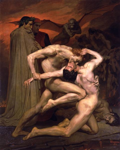 Dante and Virgil, 1850 - William-Adolphe Bouguereau