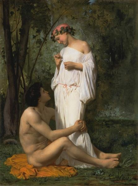 Idylle, 1851 - William-Adolphe Bouguereau