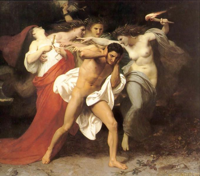 Orestes Pursued by the Furies, c.1862 - William-Adolphe Bouguereau