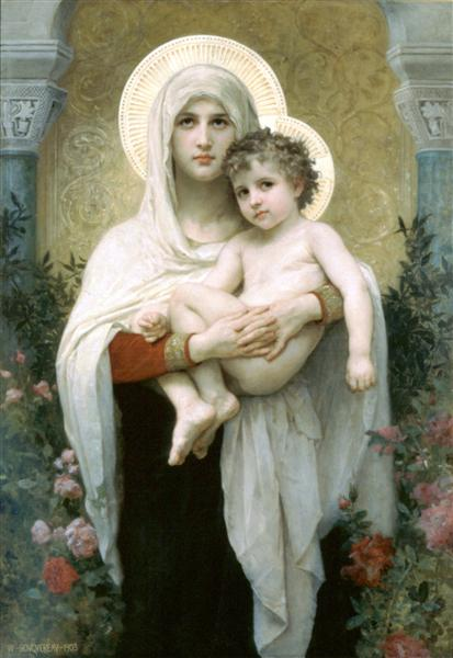 The Madonna of the Roses, 1903 - William Adolphe Bouguereau