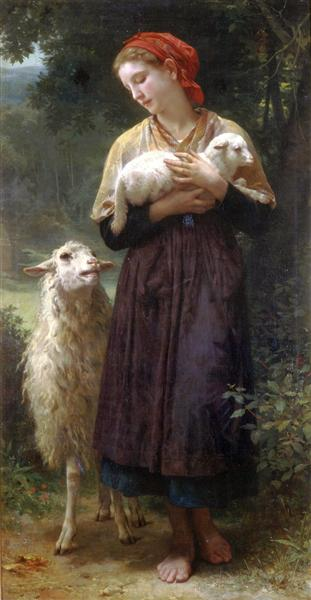 The Shepherdess, 1873 - William-Adolphe Bouguereau