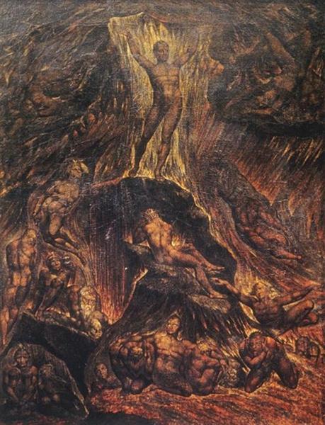 Satan Calling Up his Legions, 1804 - William Blake