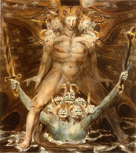 The Great Red Dragon and the Beast from the Sea, 1805 - William Blake