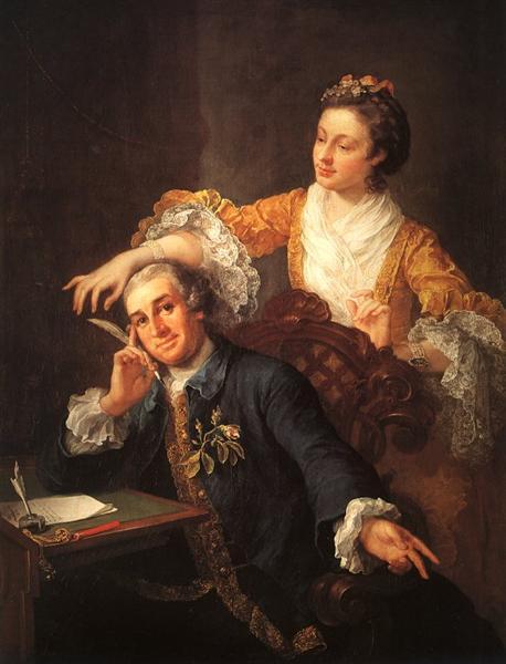 David Garrick and his Wife, 1757 - William Hogarth