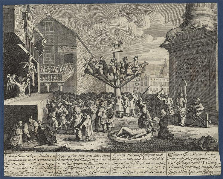 Emblematical print of the South Sea Scheme, 1721 - William Hogarth