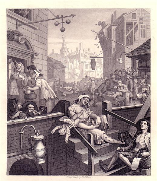 Gin Lane, 1750 - 1751 - William Hogarth