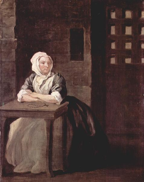 Portrait of Sarah Macholm in Prison, 1733 - William Hogarth